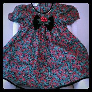 Precious Bonnie Jean holiday dress sz 6, EUC!